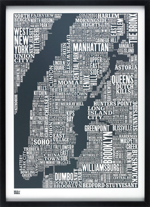 right there with you.    katykelley :     My obsession with typographic maps of NYC knows no bounds (via caro )
