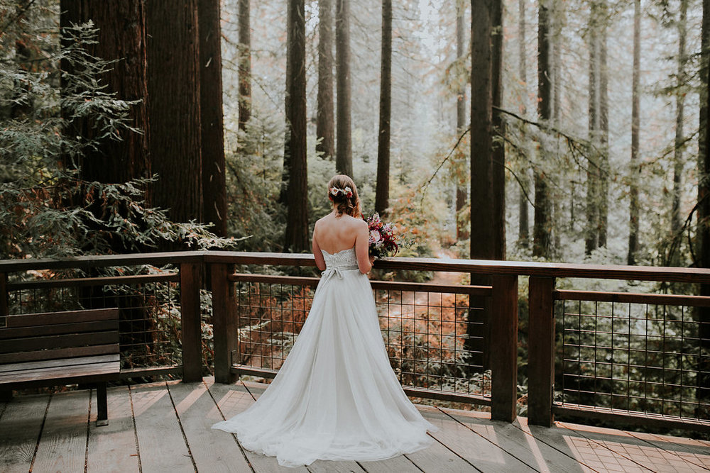 Wedding at Hoyt Arboretum in Portland, Oregon