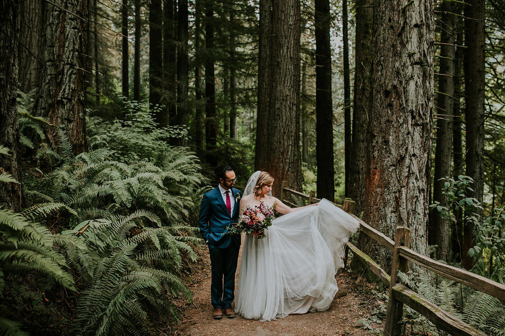 Wild wedding flowers at Hoyt Arboretum