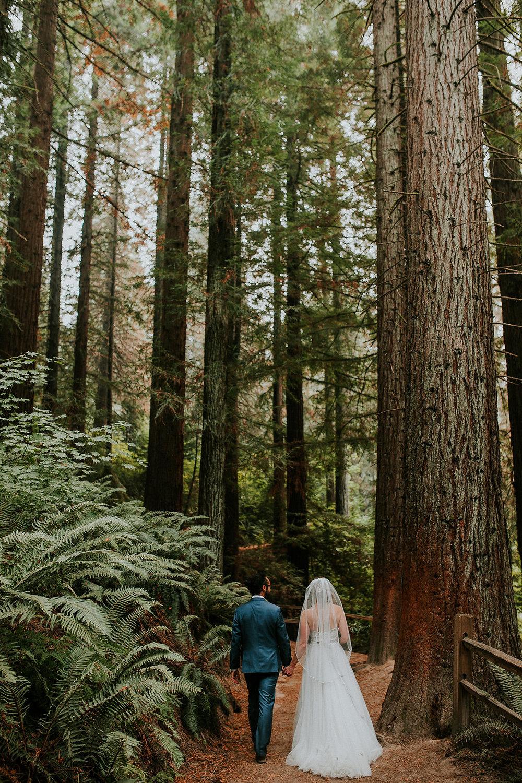 Forest wedding in downtown Portland, Oregon