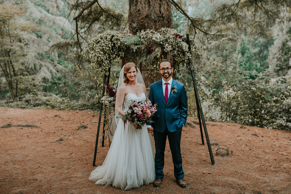 Simple Wedding arch with hops