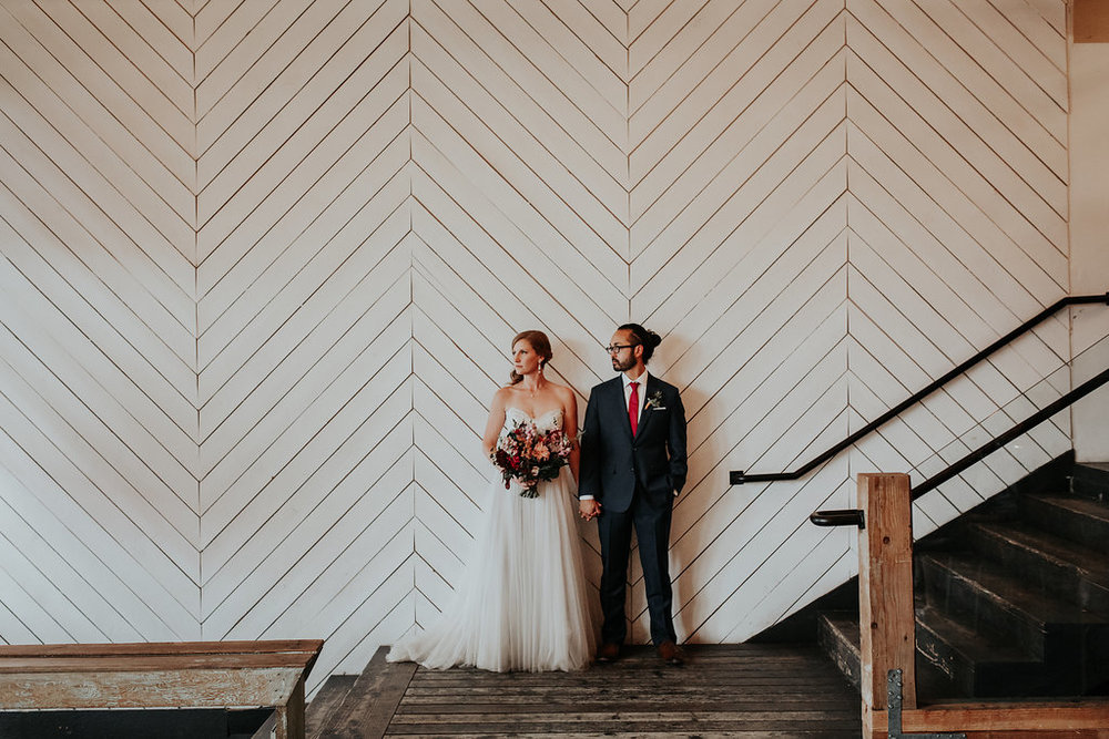 Wedding flowers at Union Pine in Portland Oregon