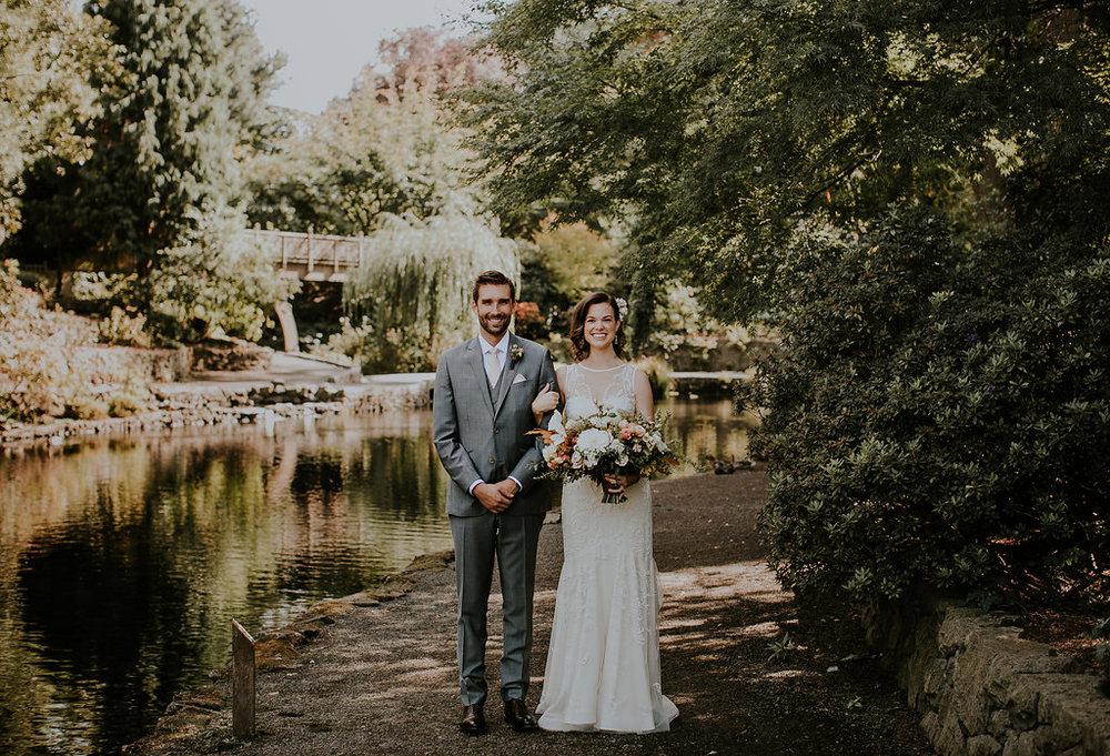 outdoor wedding flowers in Portland Oregon