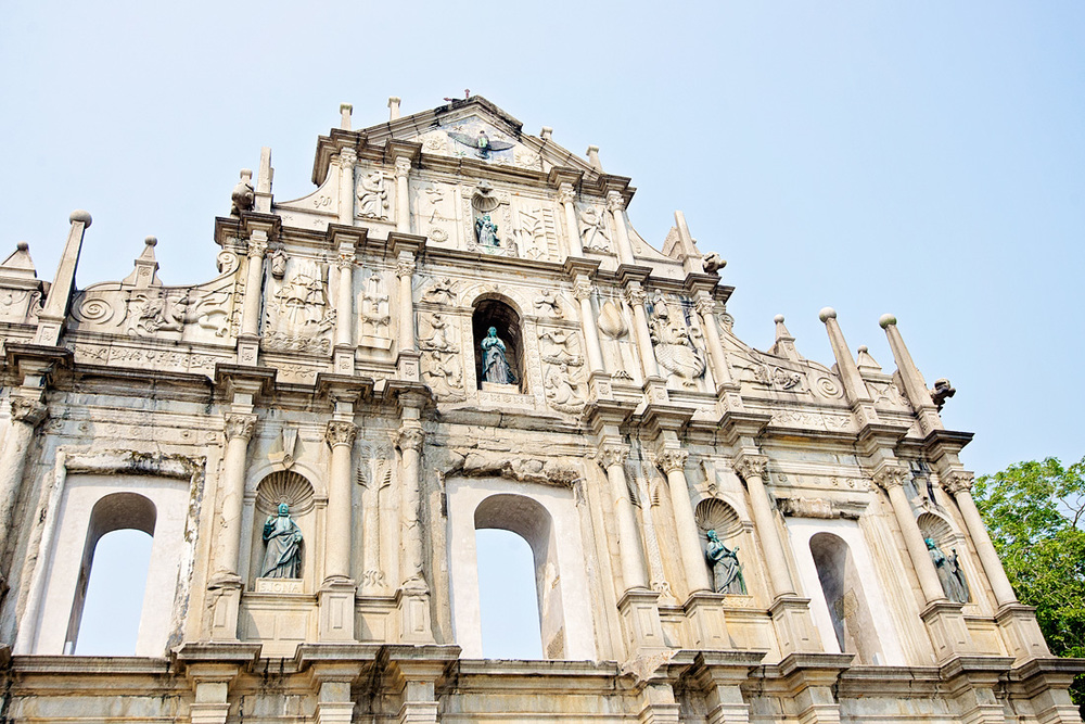 Ruins of St Paul.  Built in early 17th Century, fire destroyed this church in 1835.  The ruins that remain illustrate the history of christianity in China.