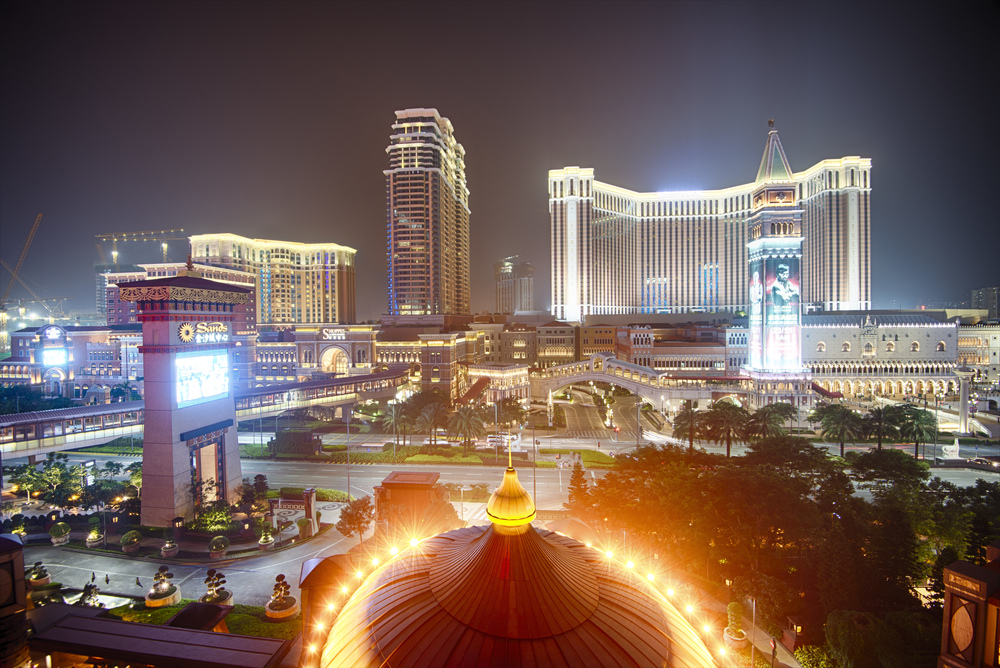 The view from the pool area of Conrad Macau.