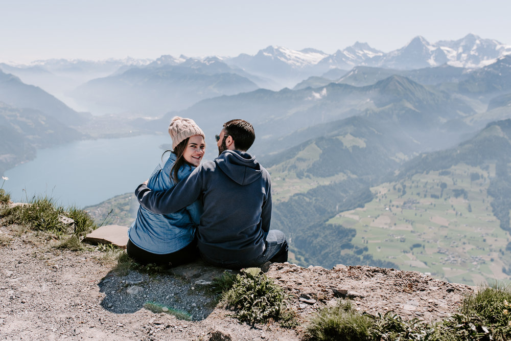 Hubby and I at the top of Mount Niesen, Switzerland.