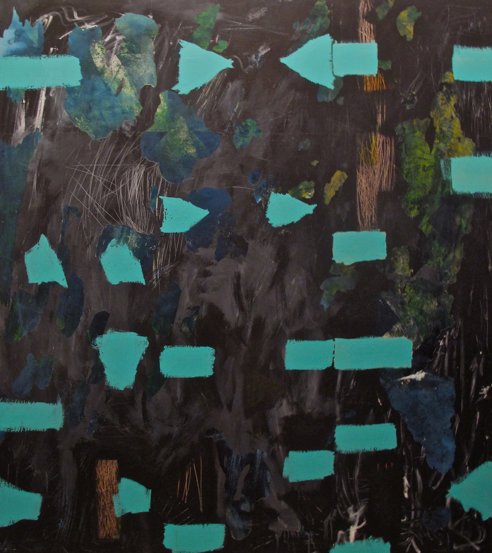 K черту, 2013. Acrylic on canvas. 72 x 64.