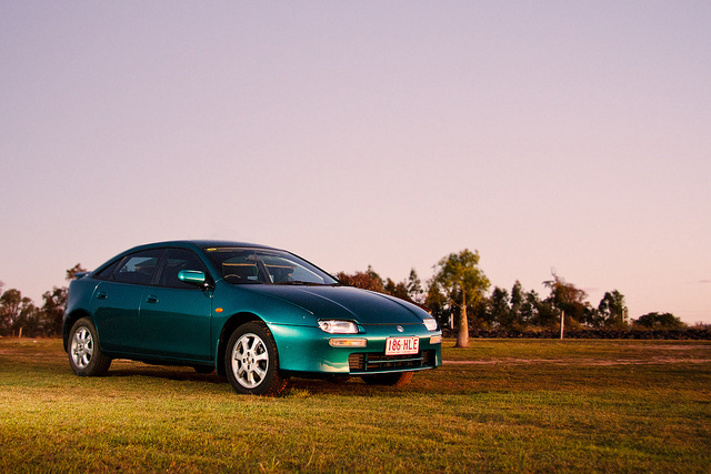 Mazda Astina (aka Lantis, 323F) on Flickr. Nick's beloved back shattering ride.
