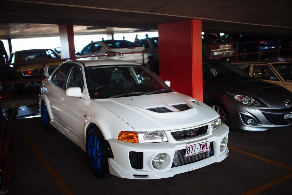 I think Evo VI and earlier generations of Imprezas (GC, GD) are some of the most aggressive looking cars.