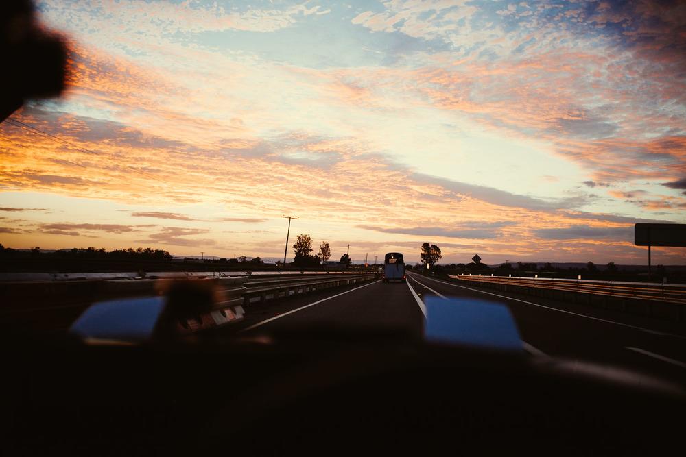 Nice sunset on the Warrego Highway.