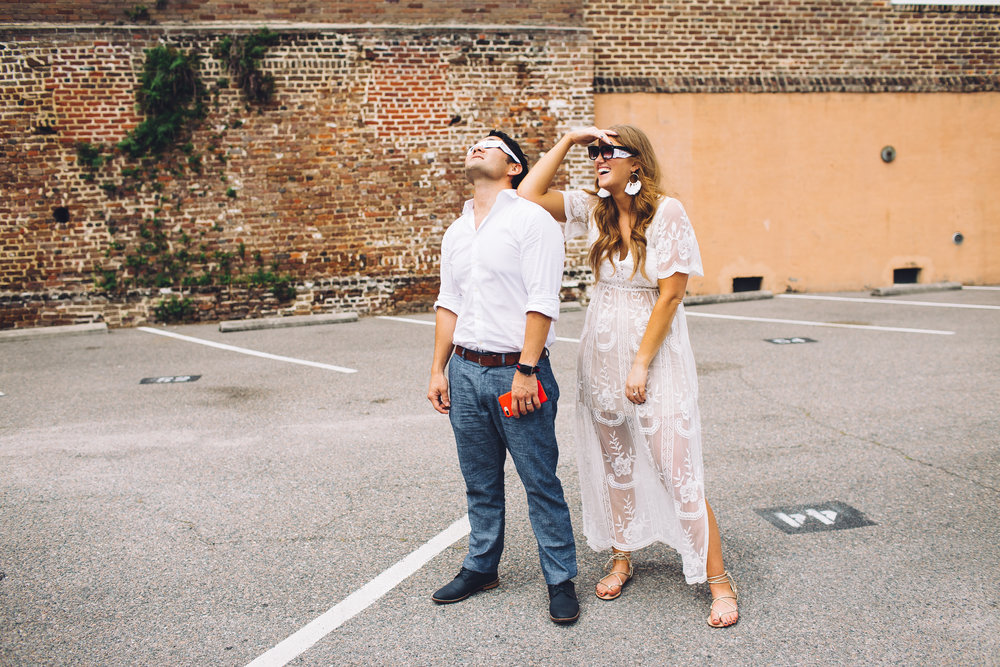 CHARLESTON ELOPEMENT, ECLIPSE WEDDING, CHARLESTON WEDDING PHOTOGRAPHER, BEST CHARLESTON WEDDING PHOTOGRAPHERS, THE CEDAR ROOM, ECLIPSE WEDDING, CHARLESTON ECLIPSE