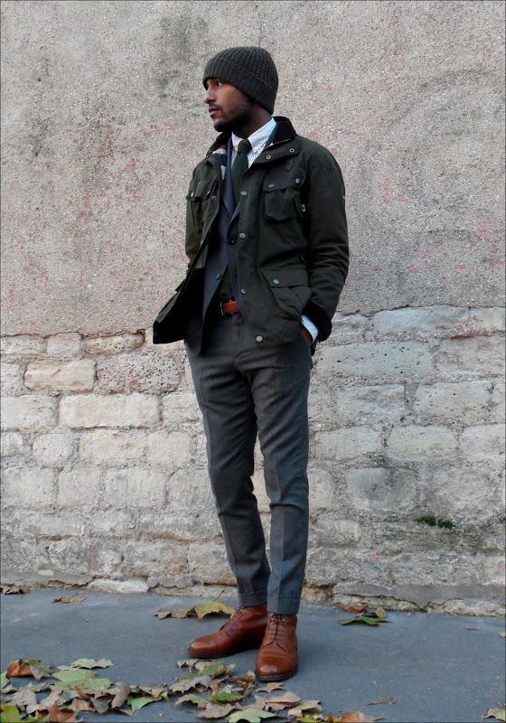 mypantalones :     Waxed Cotton Jacket from Hackett