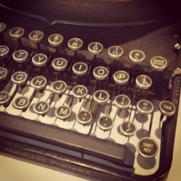 Just bought a new vintage laptop. (Taken with  Instagram )