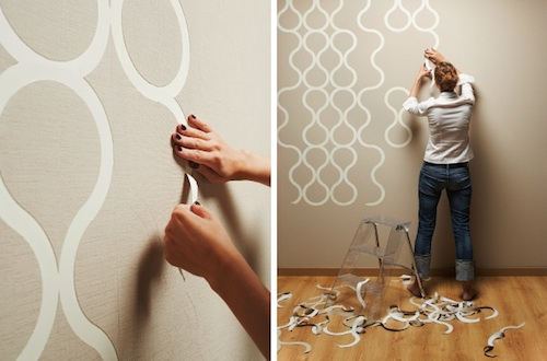 """Tear Off"" Wallpaper by ZNAK Catrina, design-milk.com Apply­ing wall­pa­per to walls has never been so fun. With this per­fo­rat­ed ""tear off"" wall­pa­per from ZNAK, you can cus­tomize the appear­ance of your space by tear­ing off the pieces as you please. The wall­pa­per is cre­at­ed out of non-wove…"