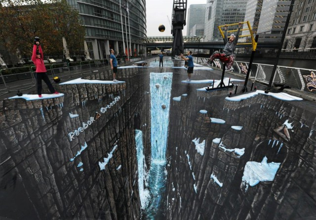 laughingsquid: The World's Largest 3D Street Painting by 3D Joe & Max