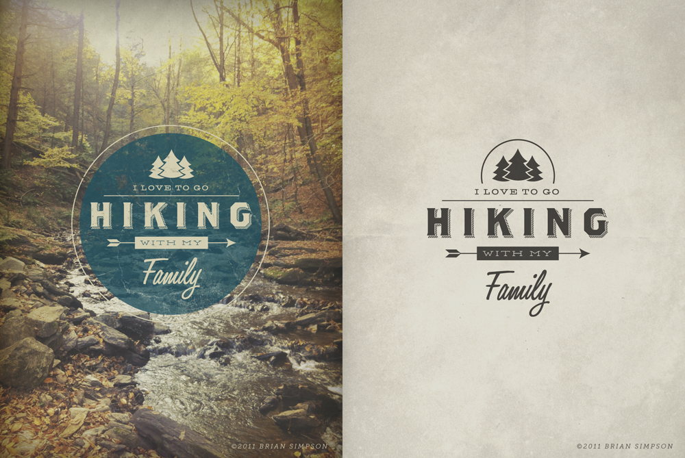 (via Dribbble - Hiking by Brian Simpson)