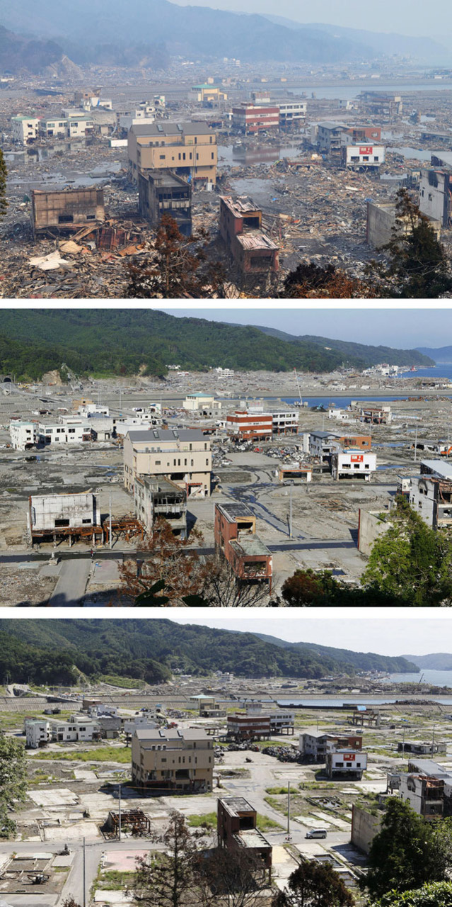 laughingsquid :      Before and After Photos of 2011 Japan Earthquake and Tsunami Destruction Show 6 Months of Speedy Cleanup