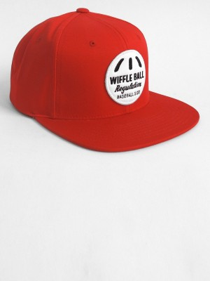 NO MAS - RED WIFFLE BALL SNAP BACK BY STARTER