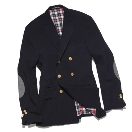 thestylebuff: Michael Bastian Double-Breasted Blazer + Elbow Patches