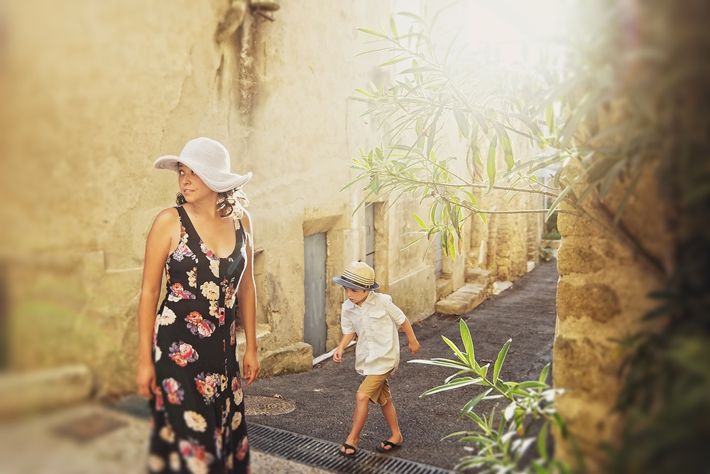 My son and I - Provence, France