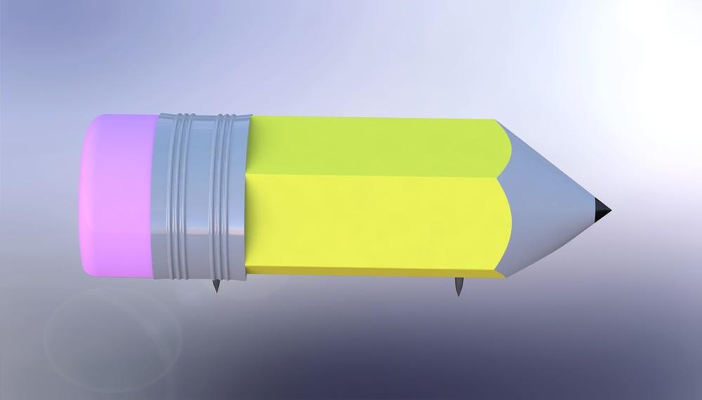 R endered pencil Corner Keeper