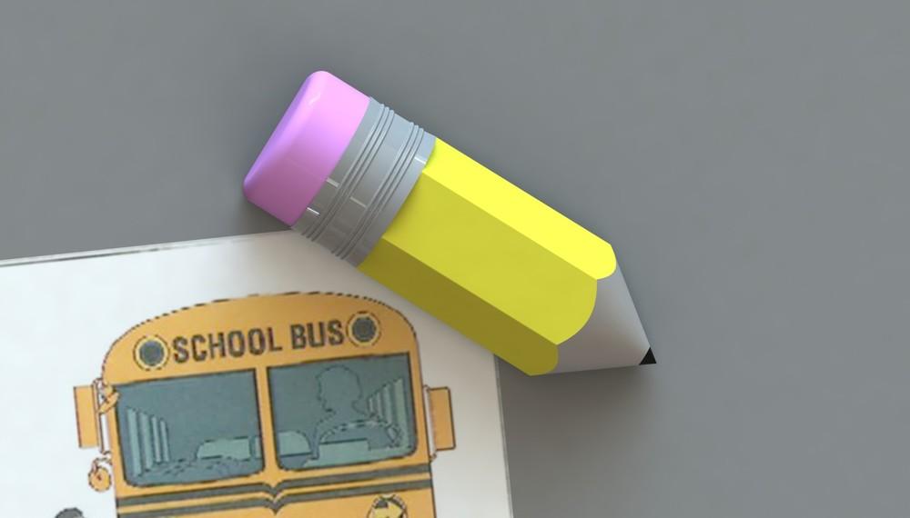Rendered pencil Corner Keeper onbulletin board