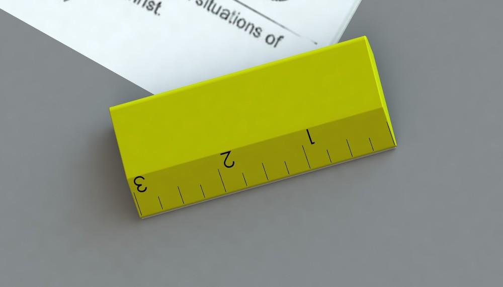 R endered ruler Corner Keeper onbulletin board