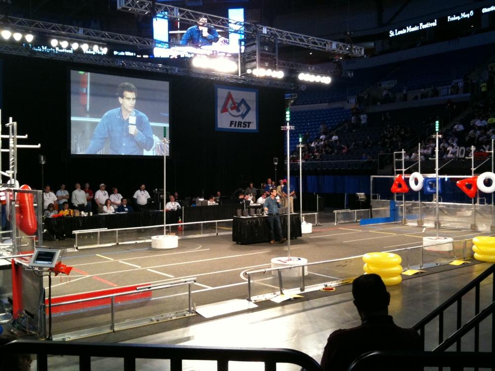 FIRST founder, Dean Kamen, speaking at the 2011 St. Louis Regional
