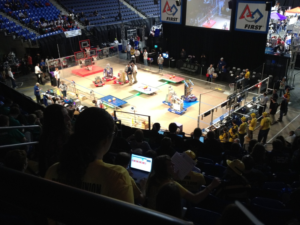 View from the Team 1208 section at the 2012 St. Louis Regional