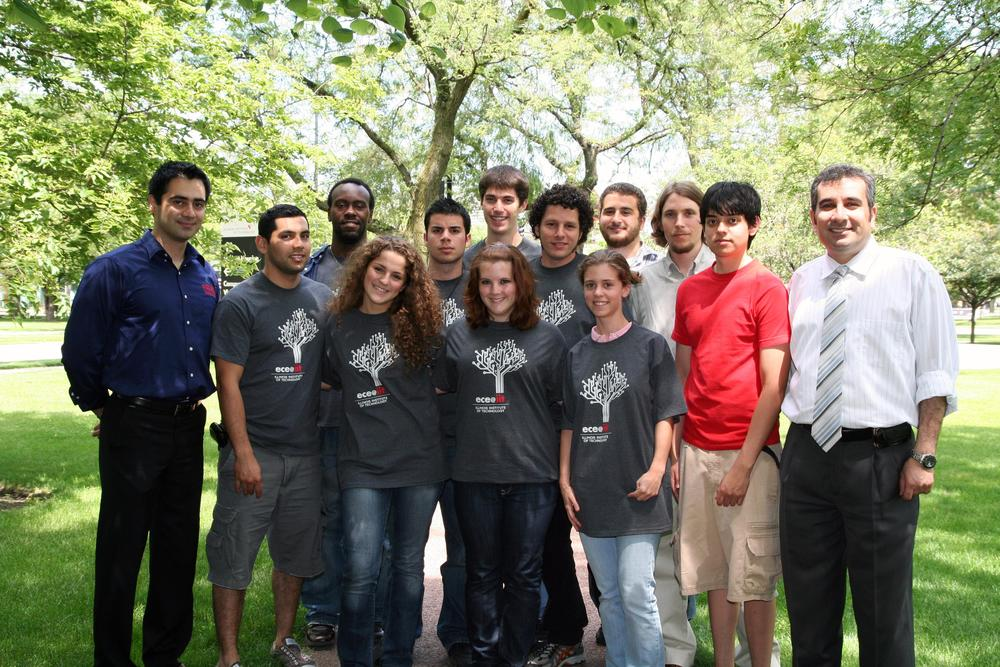 Professors Khaligh and Emadi with the summer REU students at the Illinois Institute of Technology