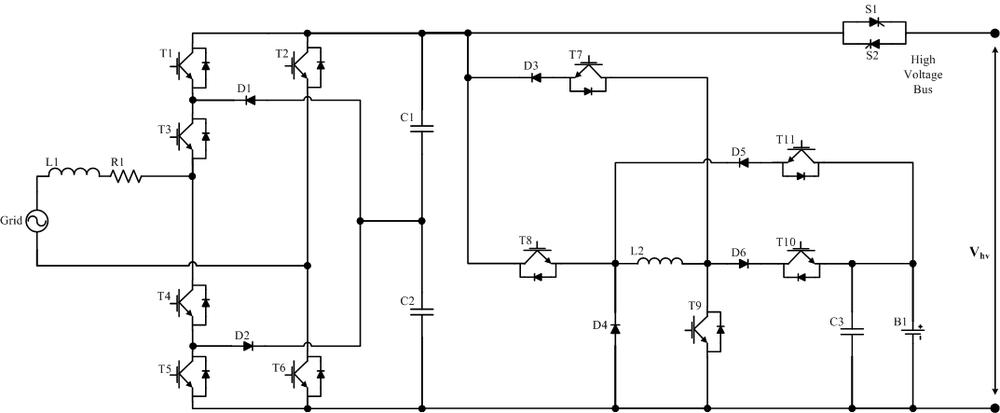 Integrated Bi-directional Power Electronic Converter