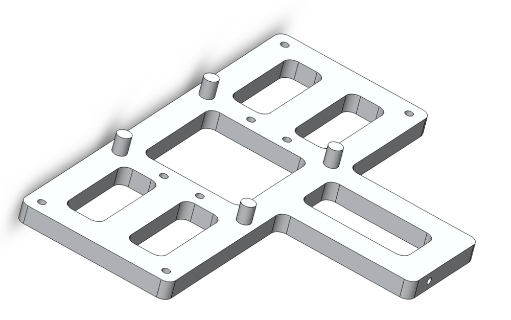 CAD view of cast aluminum chassis