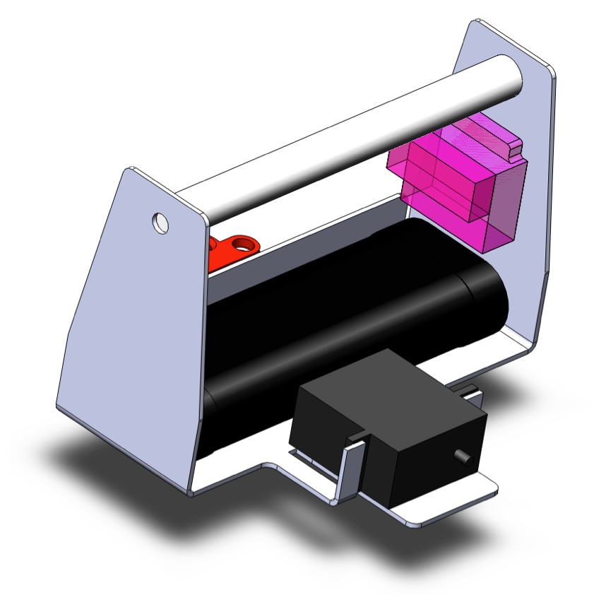 CAD view of removable controller assembly