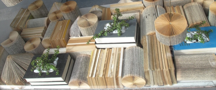 Recycled Book window display