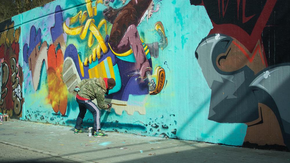 """Graffiti an der """"Hall of Fame"""" in Neuss (16. März 2013)"""