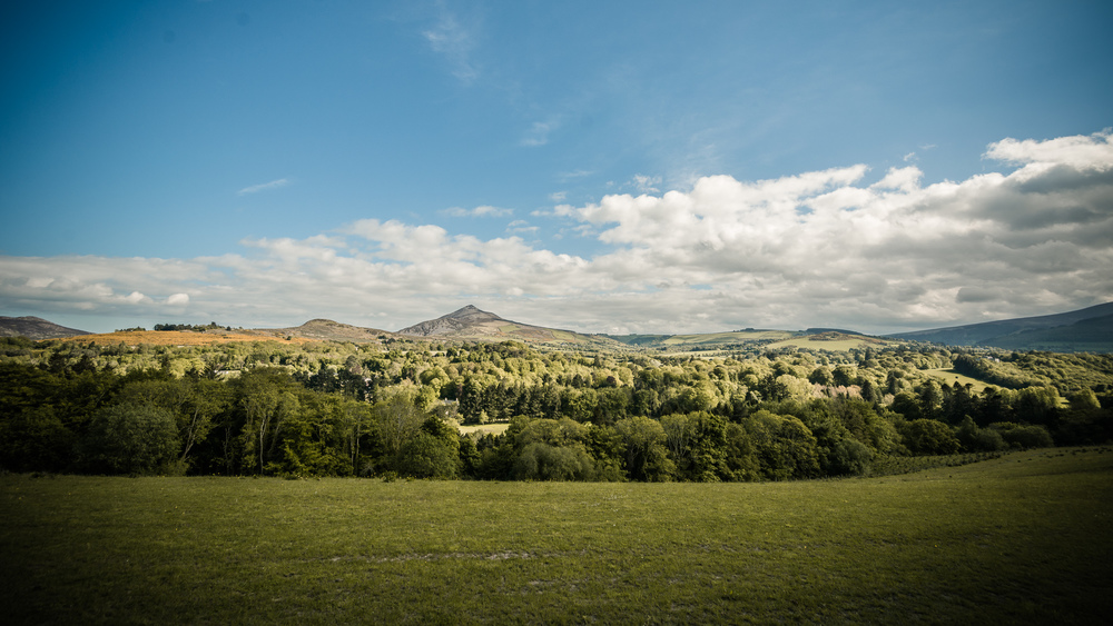 Blick auf Sugarloaf Mountain, Enniskerry