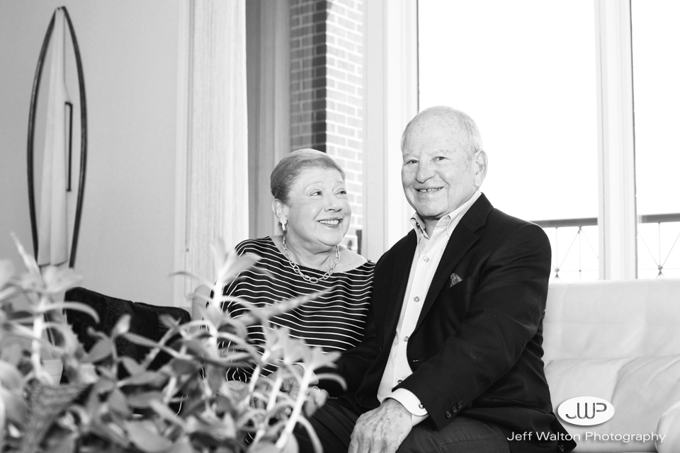 Sanford and Barbara Orkin by Jeff Walton