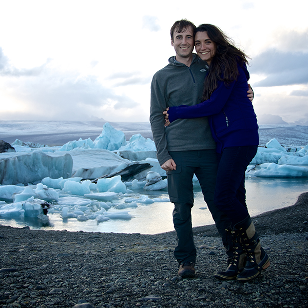 Jeff Walton and his wife in Iceland.