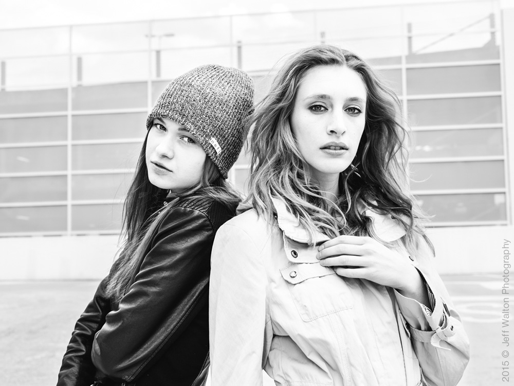 Outdoor session with Julia and Lindsay of Ursula Wiedmann Models by Jeff Walton Photography