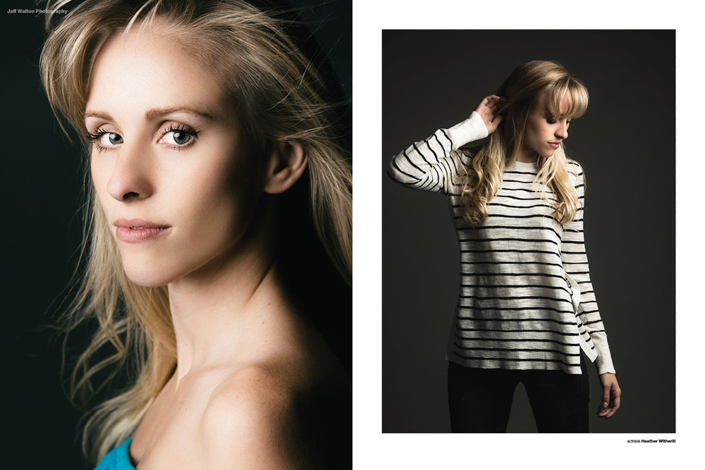 Editorial photography by Atlanta based photographer Jeff Walton. Actress Heather Witherill.