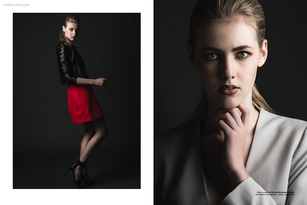 Editorial photography by Atlanta based photographer Jeff Walton. Model Emme Lombard of Ursula Wiedmann Models.