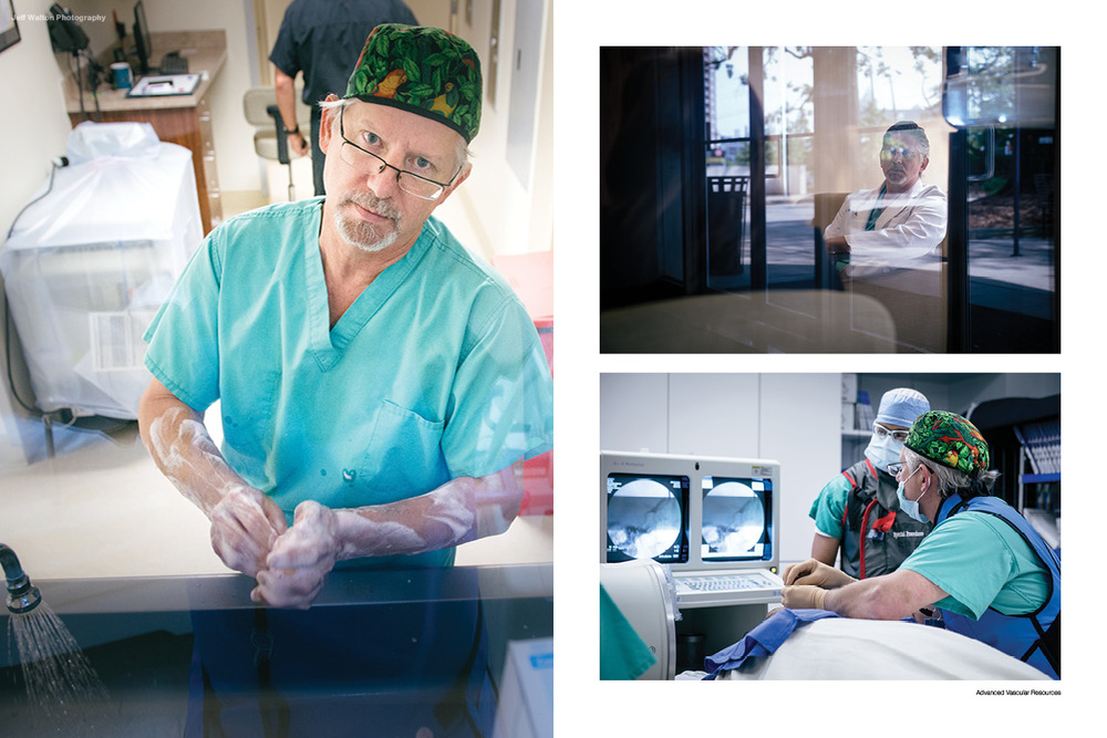 Commercial photography by Atlanta based photographer Jeff Walton for a local vascular surgeon's medical practice.
