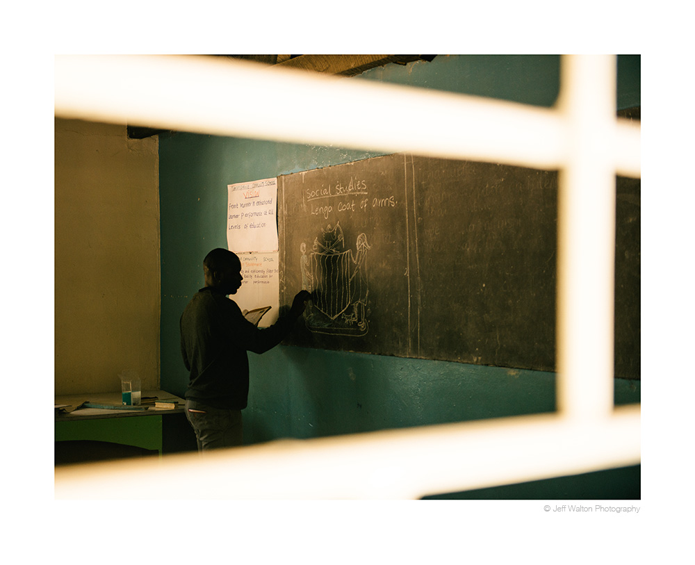 Classroom in Zambia by Jeff Walton