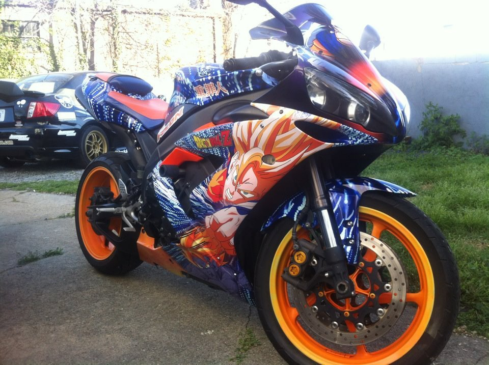 Dragonball Z Motorcycle Wrap Image Chicks
