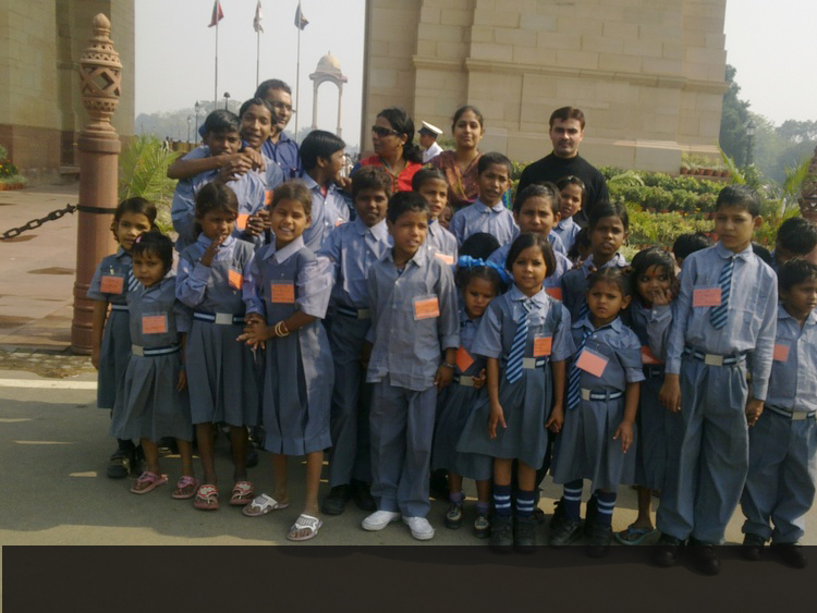 Ankuran Students at India Gate