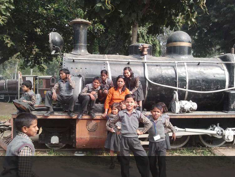 Ankuran Students at The Railway Museum.