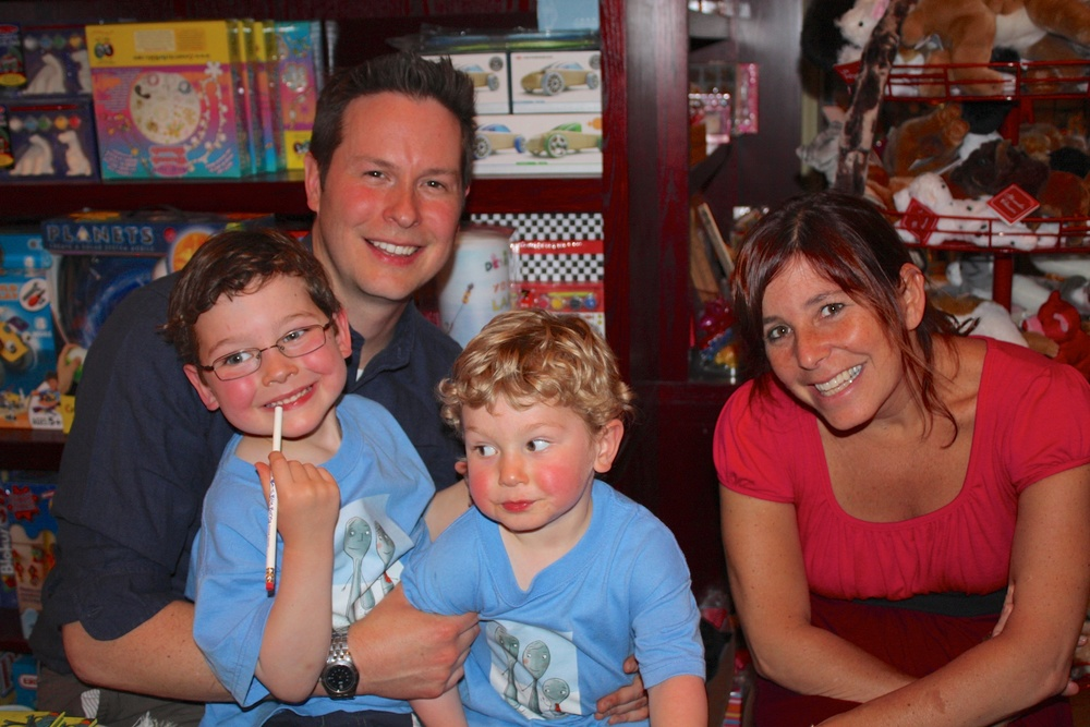 Amy & Me with my boys just after our  Spoon  signing at The Blue Bunny in Dedham, MA