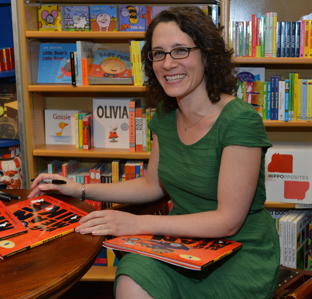 The wonderful Michelle Knudsen.  (photo courtesy McNally Jackson)
