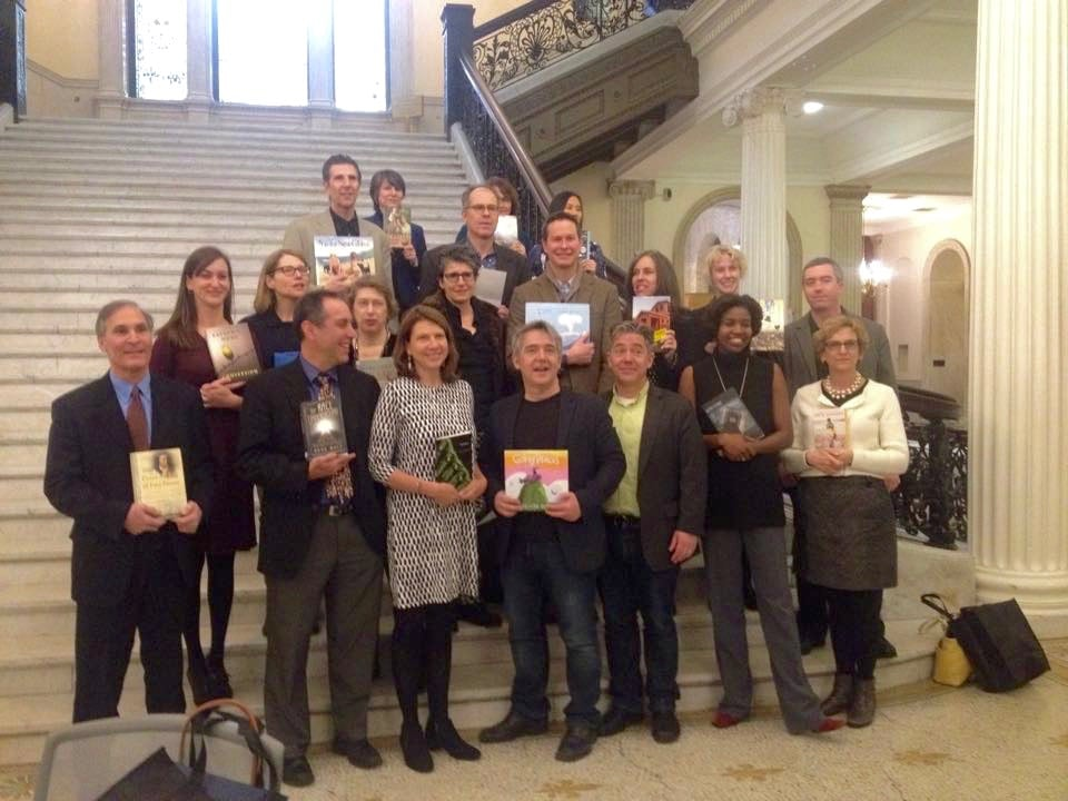 All of the winners and honorees from the 2015 Massachusetts Book Awards. I was so honored to be part of this esteemed group of Bay State creators.