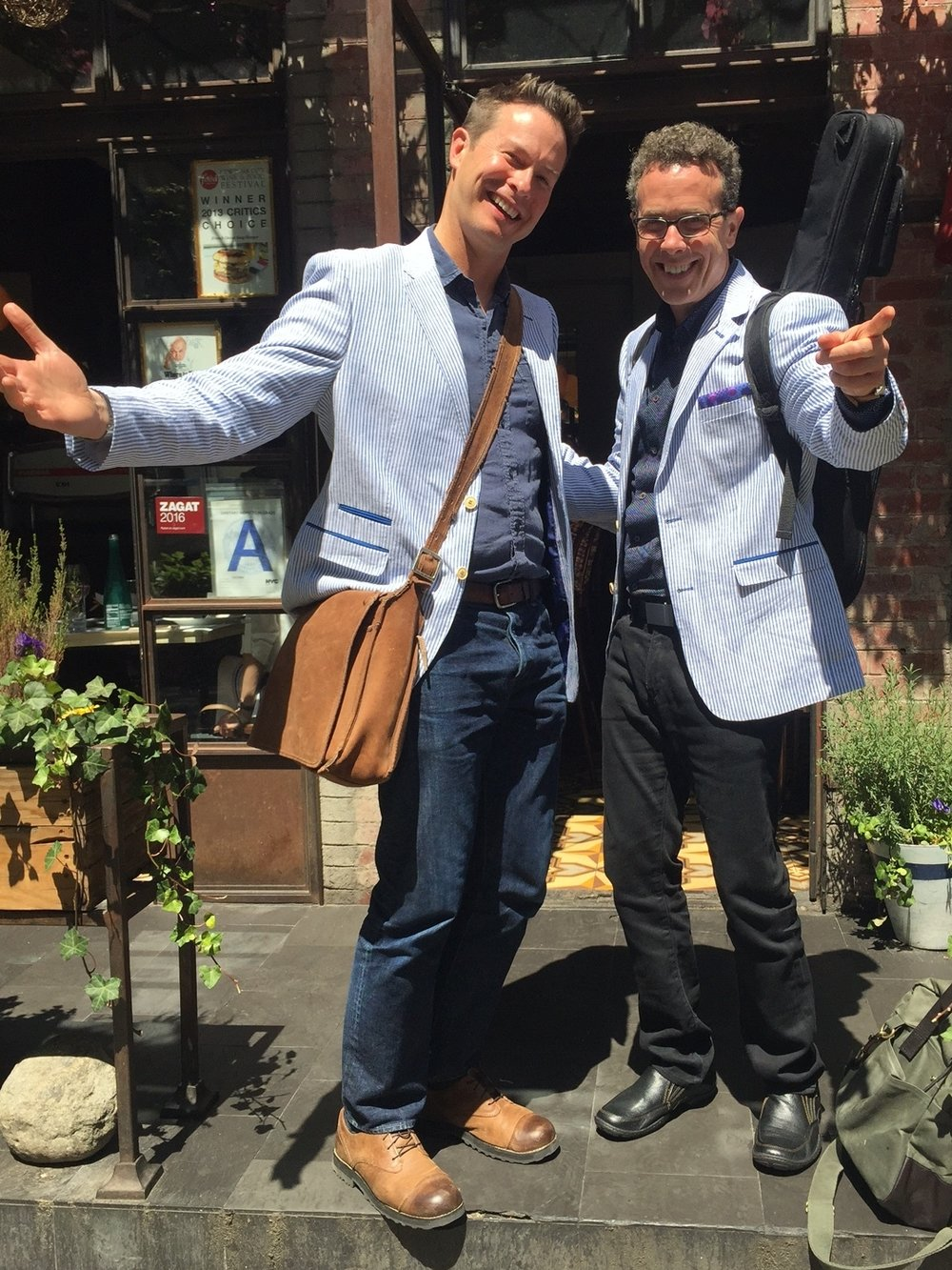 Author Eric Litwin and me one day in New York City!